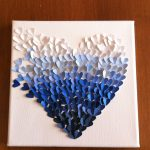 DIY paintchip heart