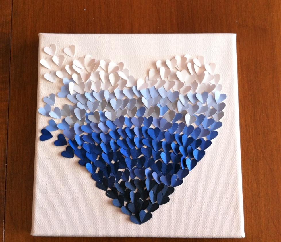 DIY paintchip heart