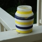 DIY yarn-wrapped candle