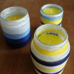 DIY yarn-wrapped candles