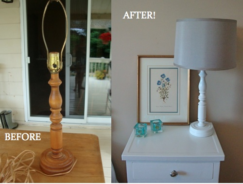 DIY lamp transformation - amazing what a little paint can do! | flourishandknot.com