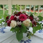 DIY rose centrepiece