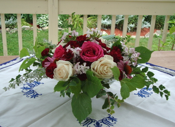 A romantic floral arrangement
