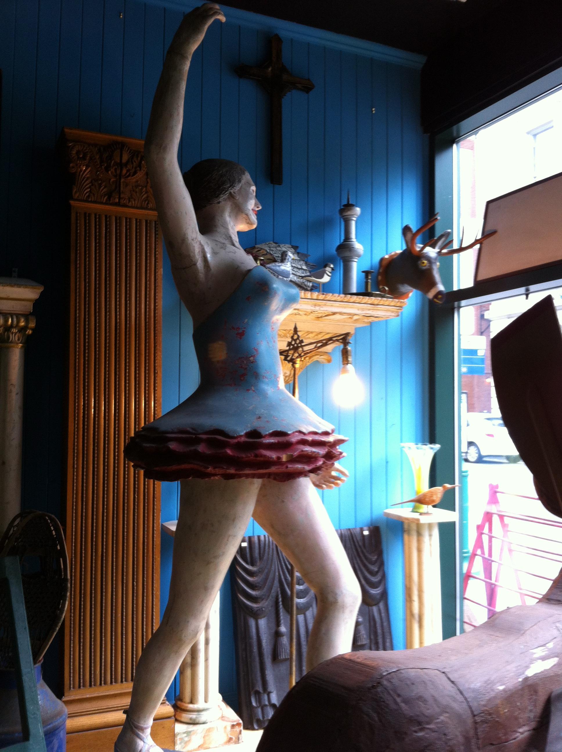 Antique ballerina figure in Quebec | flourishandknot.com