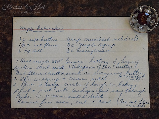 Recipe for Maple Oatcakes