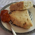 Delicious maple oatcakes served with red pepper jelly