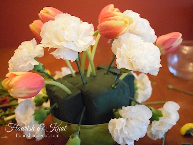 DIY spring arrangement