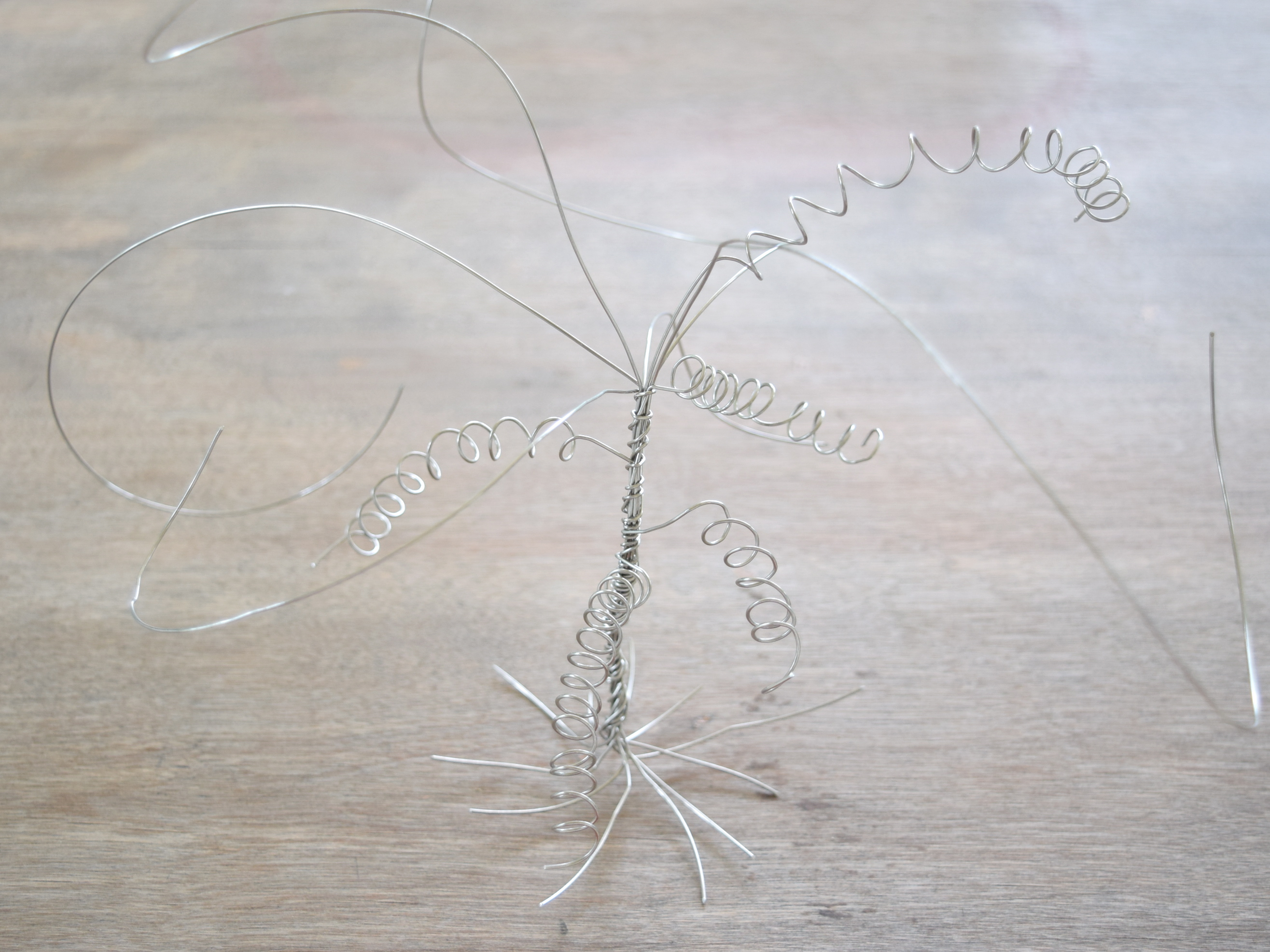 Swirly wire tree art
