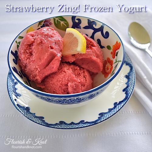 Strawberry Zing! Frozen Yogurt