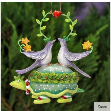 Two Turtle Doves Ornament from Patience Brewster
