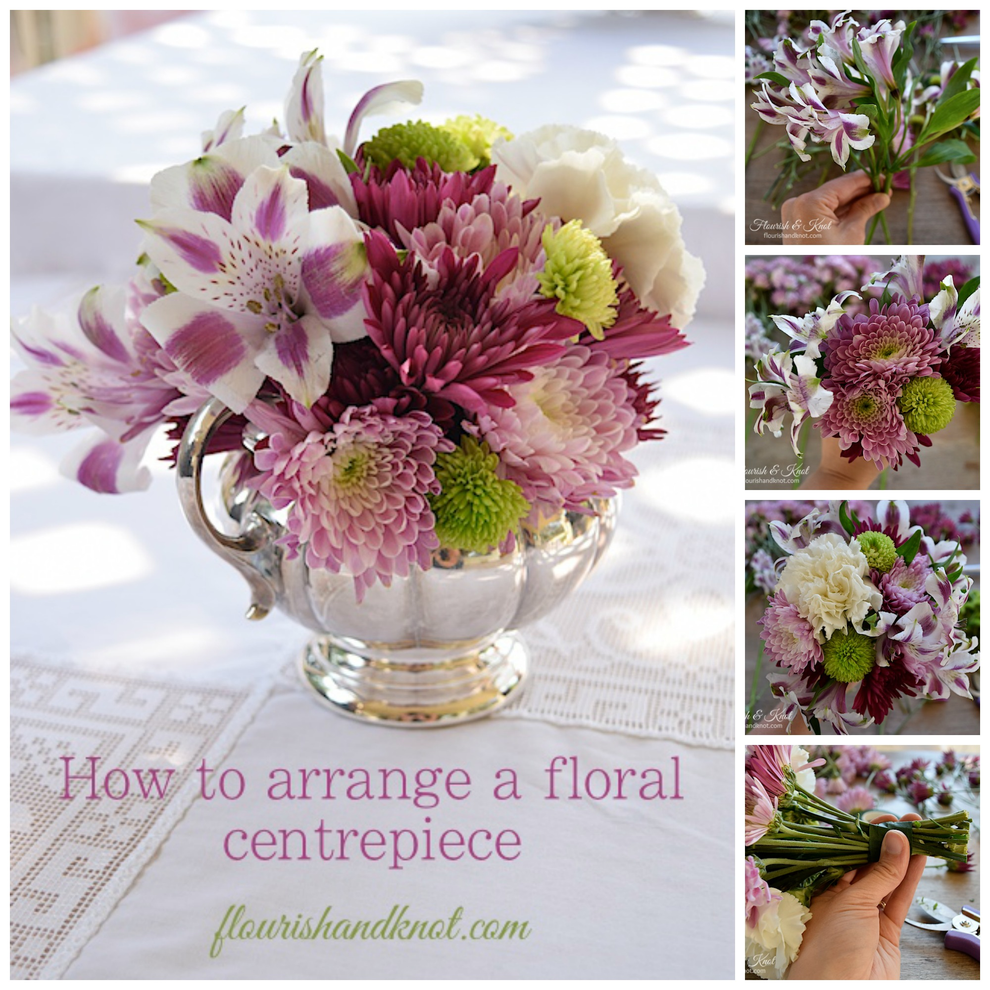 How to arrange a centrepiece - no experience required! | flourishandknot.com