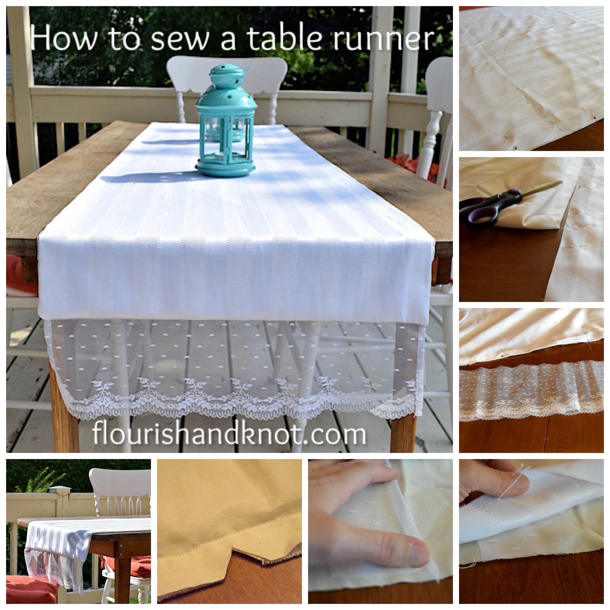 How to sew a table runner - How To Sew A Simple Table Runner Flourishandknot Com
