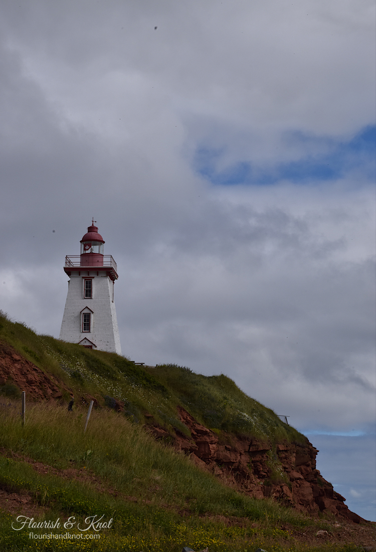 The historic lighthouse in Souris, PEI