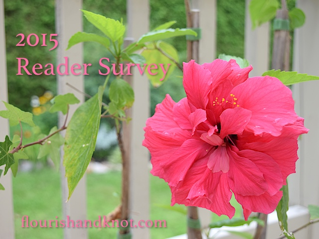 Thank you for taking the time to complete the 2015 Reader Survey! | flourishandknot.com
