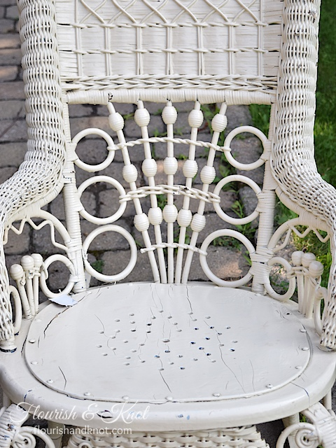 "Rocking chair ""before"" makeover! 