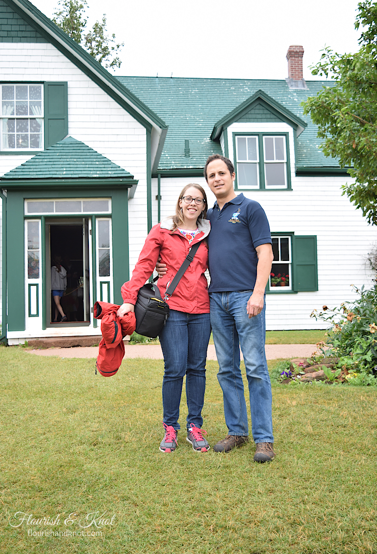 Sarah and Erick visiting Green Gables Heritage Place on Prince Edward Island