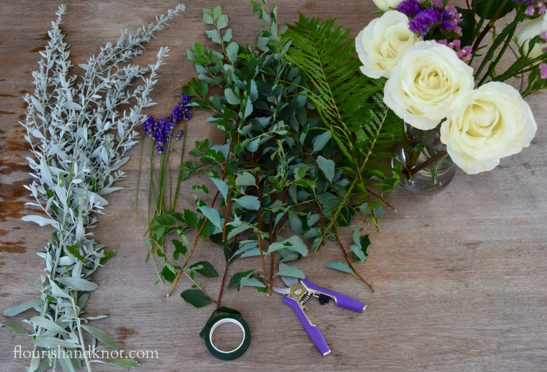 The materials you need to create a cascade bouquet | flourishandknot.com