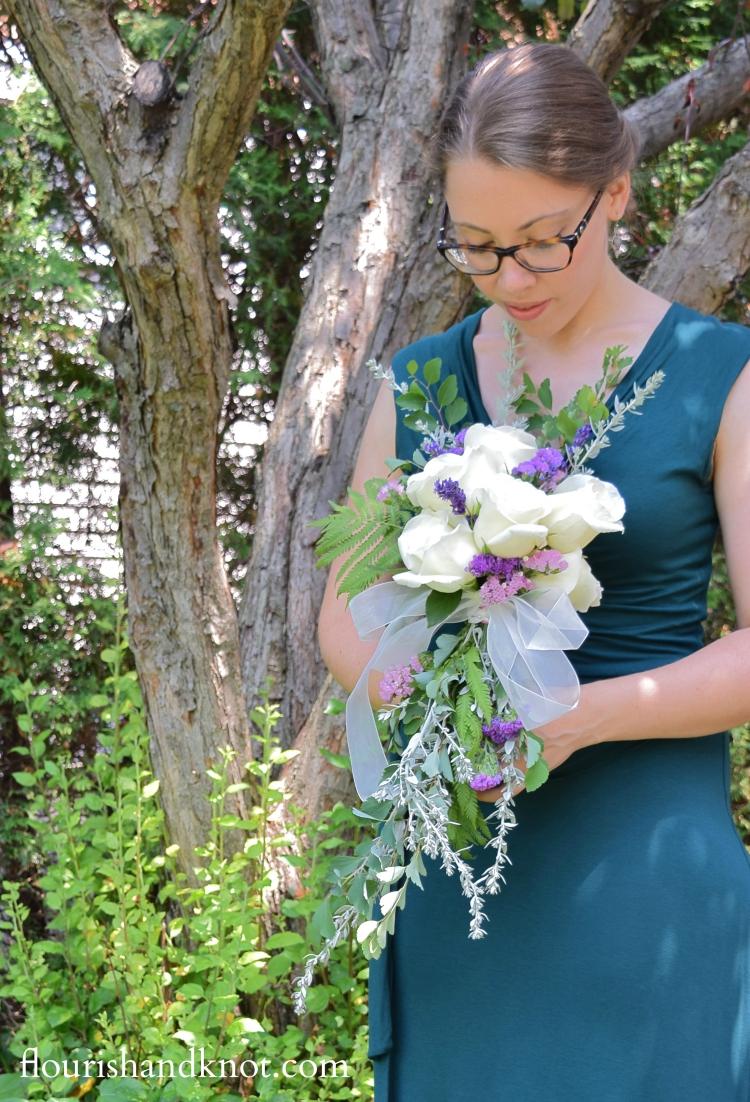 How to make a cascade bouquet