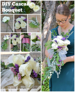 How to create a beautiful cascade wedding bouquet | flourishandknot