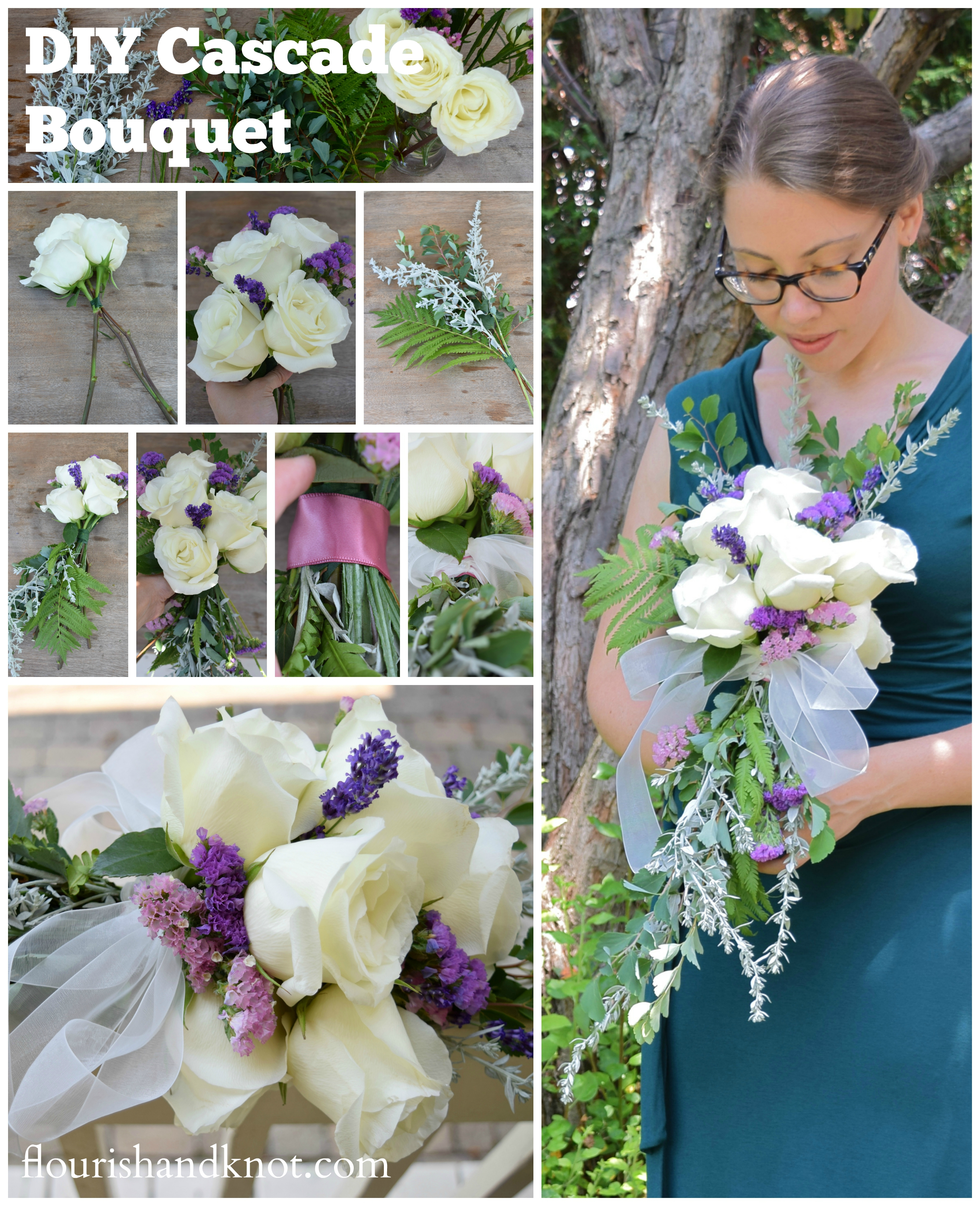 How to create a cascade bouquet