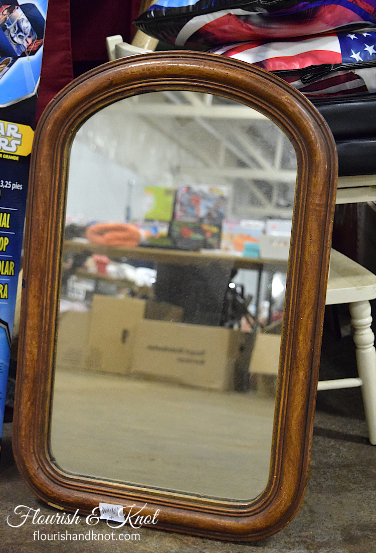 A sweet antique mirror at the Sunday Flea Market, Cornwall, PEI