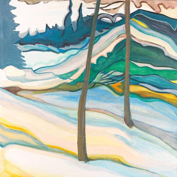 Neige colorée art contemporain paysage hiver by Constance Beaulieu