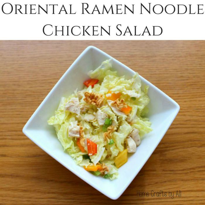 Oriental Ramen Chicken Salad | by Home Crafts by Ali