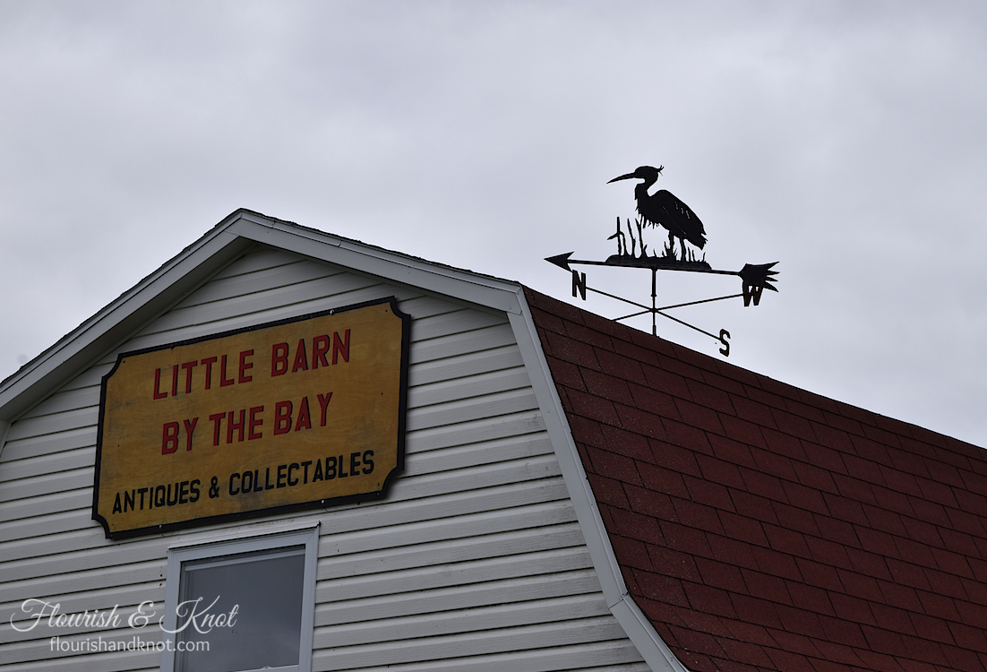 Rosie the weathervane at Little Barn by the Bay Antiques, Little Pond, PEI