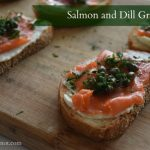 Salmon and dill gravlax appetizer | flourishandknot.com
