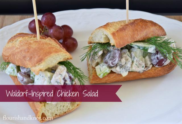 A Waldorf-inspired chicken salad sandwich | by flourishandknot.com