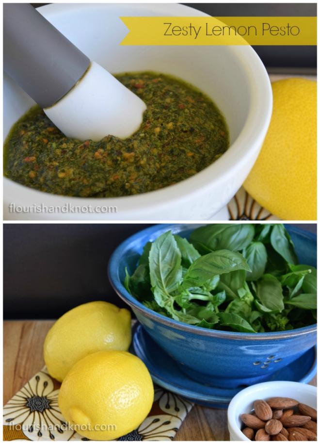 Zesty Lemon Pesto by flourishandknot.com