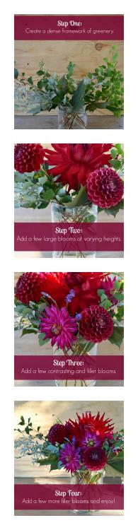 Here's how to create a beautiful harvest arrangement using dahlias | flourishandknot.com