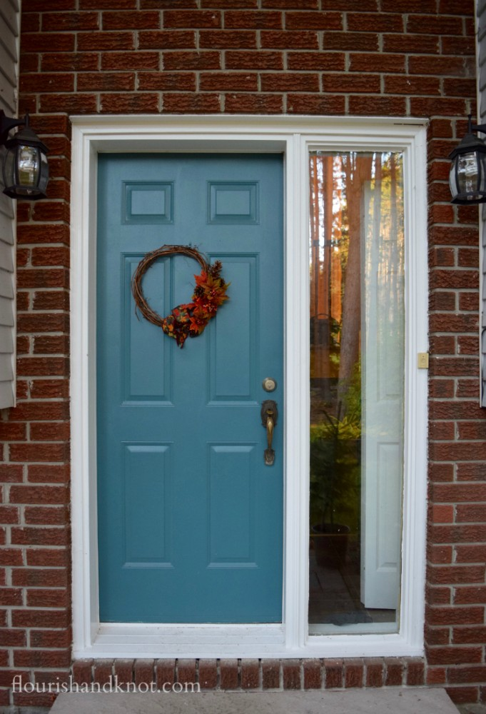 Grey blue front door | Saying goodbye to 115 | flourishandknot.com