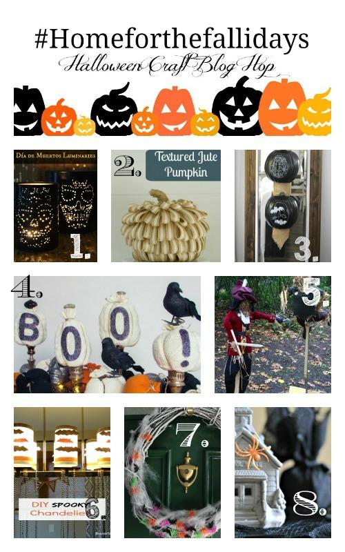 Check out the #HomeForTheFallidays Halloween Craft Hop! | flourishandknot.com