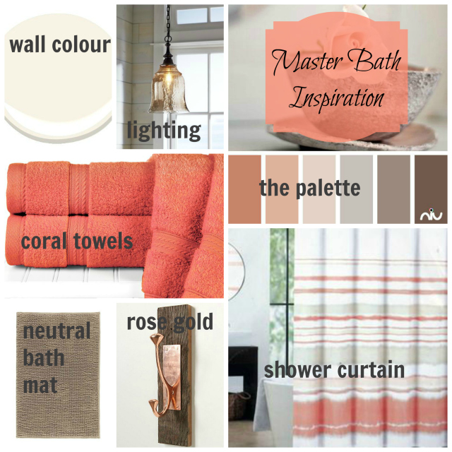 Master Bathroom Inspiration Board | One Room Challenge | flourishandknot.com