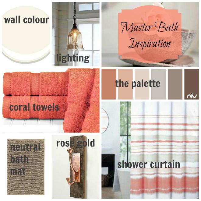 Master Bathroom Inspiration Board | One Room Challenge | flourishandknot.com
