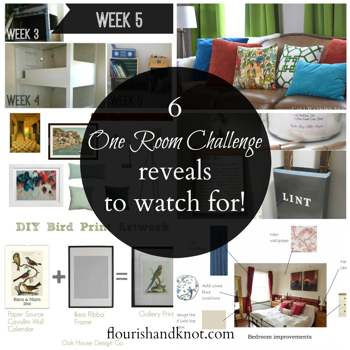 6 One Room Challenge REVEALS to Watch For!