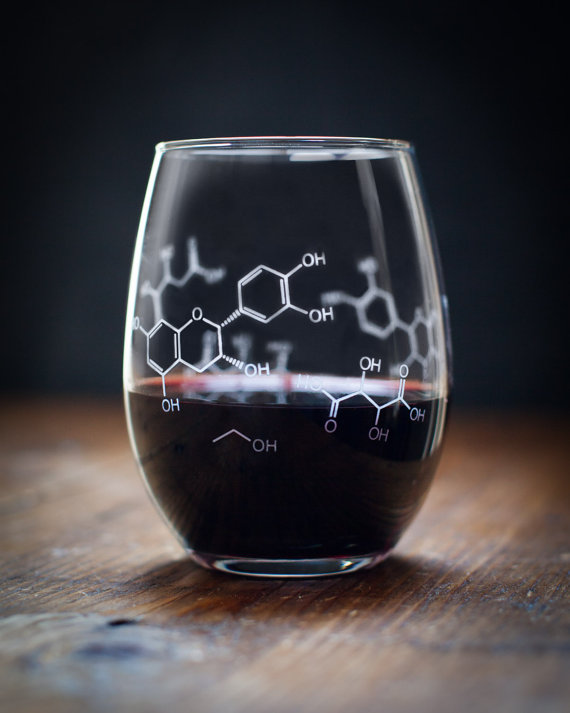 Chemistry Wine Glass