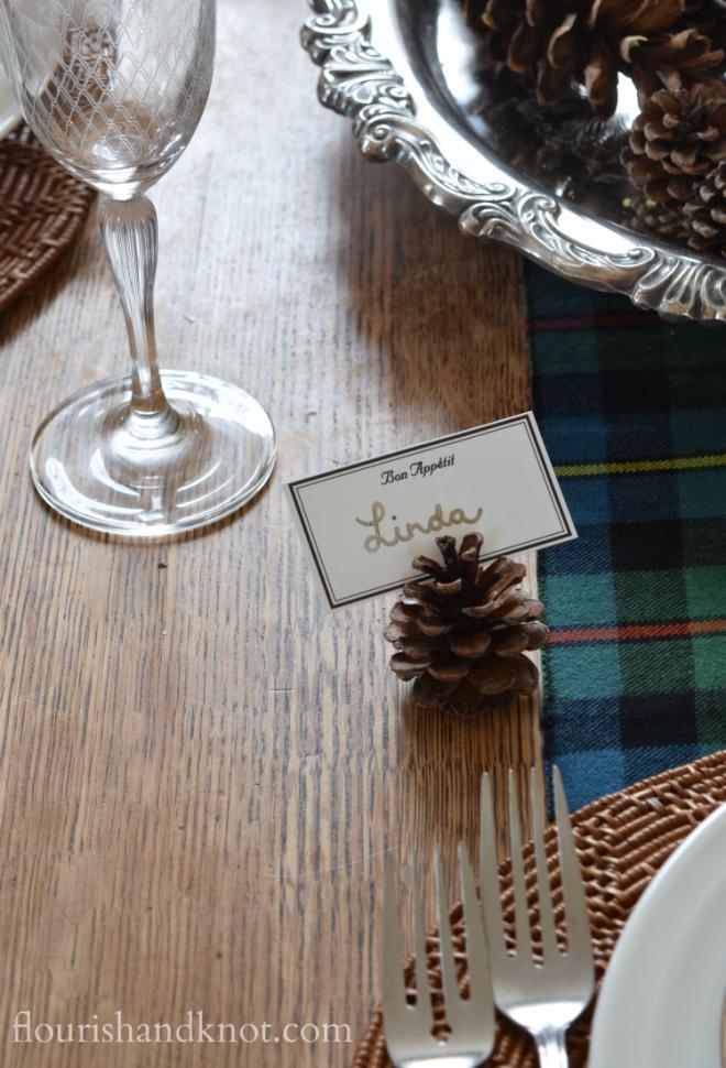 A Scottish Holiday Table | November Create & Share Challenge | flourishandknot.com