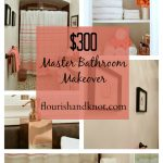 $300 Master Bathroom Makeover in Coral, Brown, and Cream