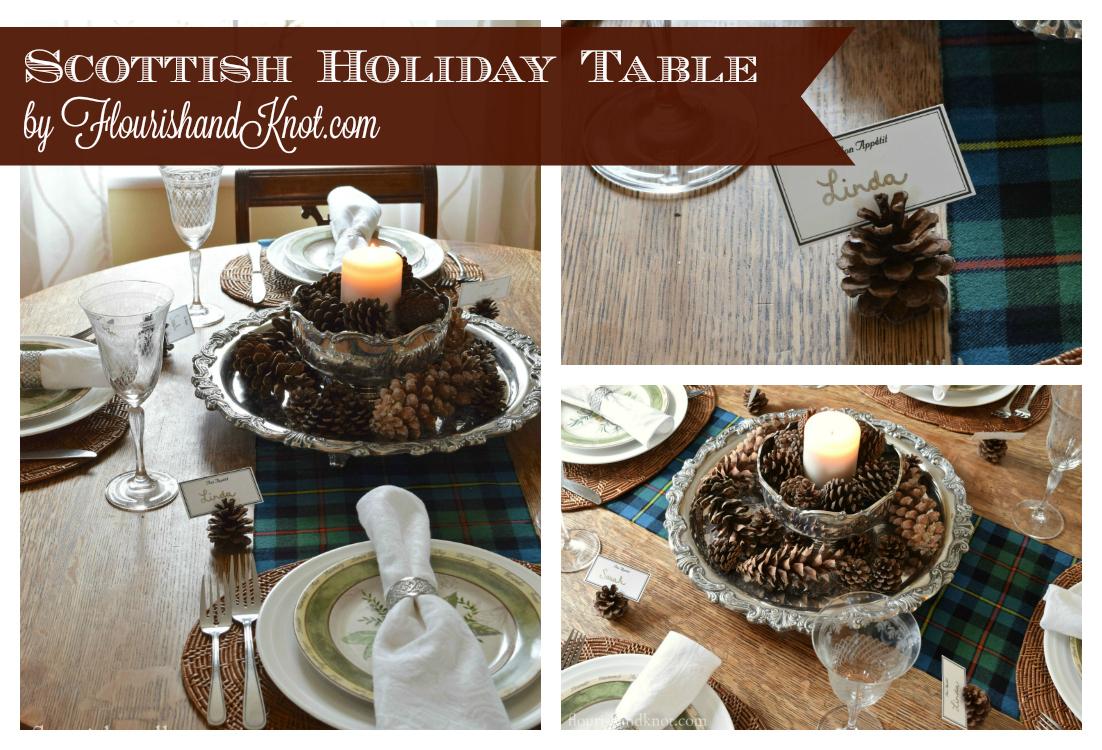 Scottish Holiday Table Horizontal