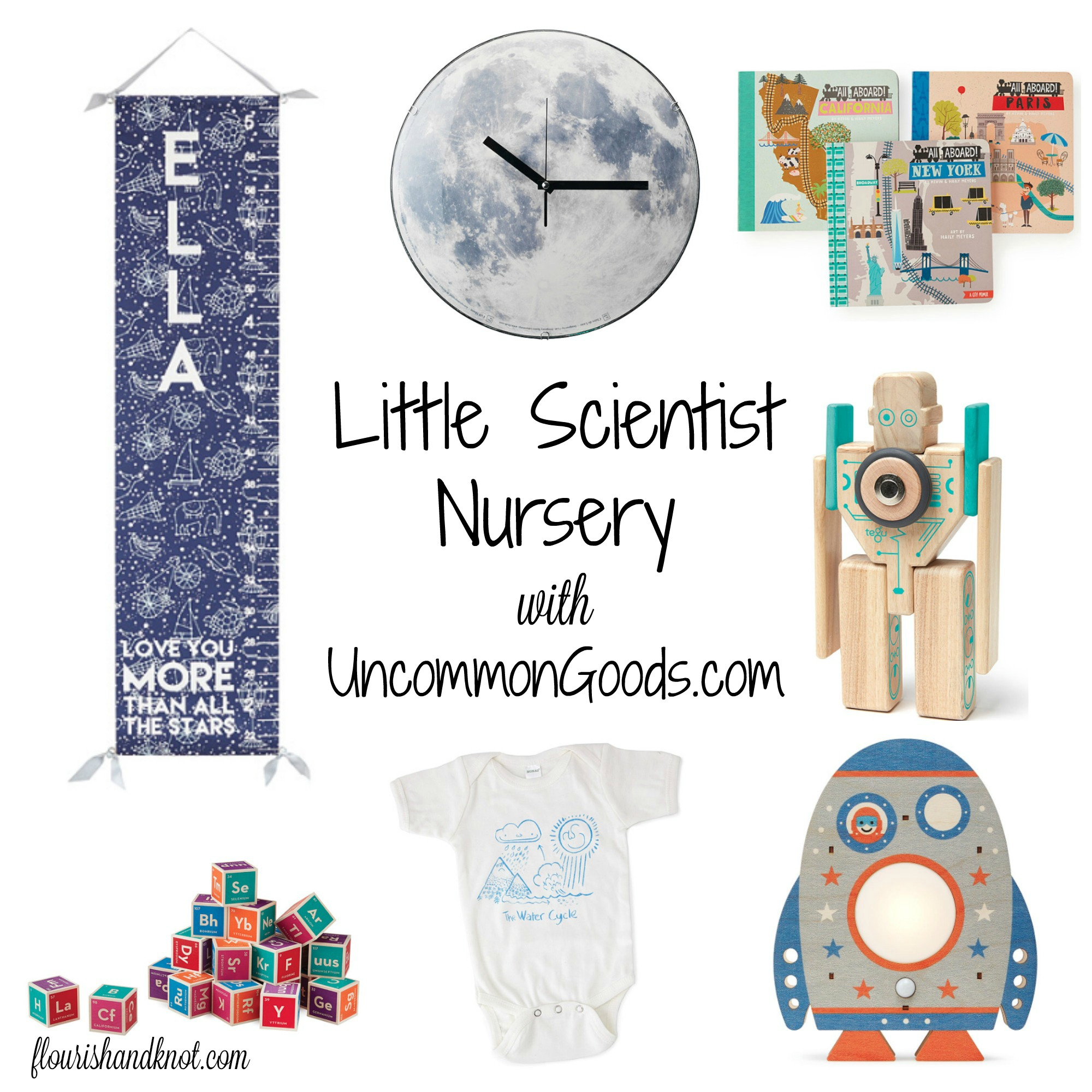 Little Scientist nursery inspiration with UncommonGoods.com | flourishandknot.com