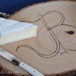 Create your own #DIY monogrammed cheese board using simple materials from Walnut Hollow | flourishandknot.com