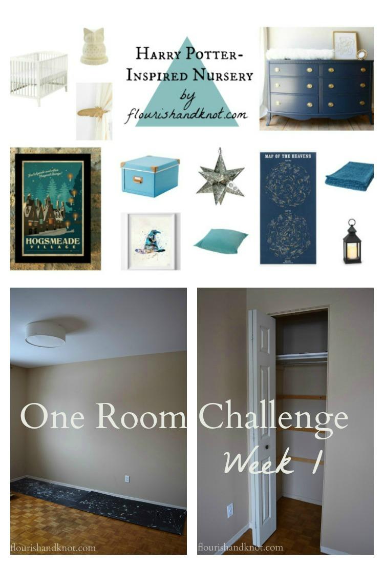 Our #HarryPotter nursery for the #OneRoomChallenge - Week 1's progress | flourishandknot.com