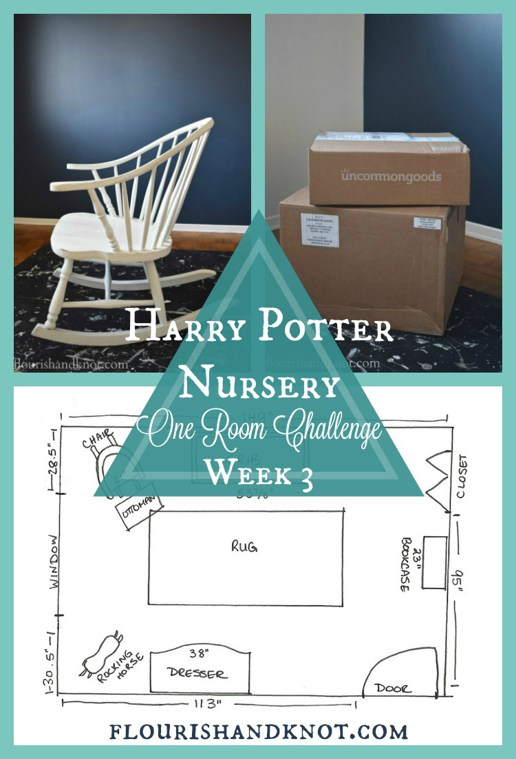 An update of our progress in week 3 of the #OneRoomChallenge for our #HarryPotter nursery | flourishandknot.com
