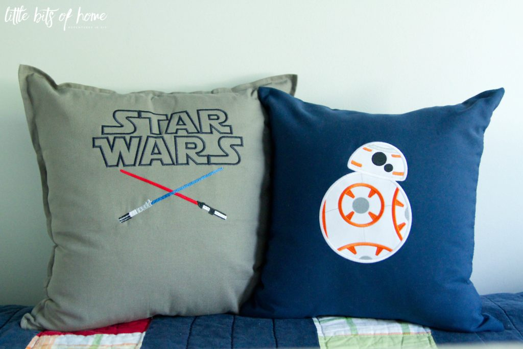 Little Bits of Home's amazing Star Wars-themed pillows