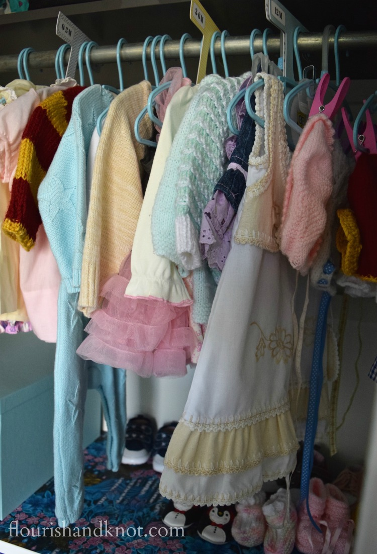 Baby's clothes are hung in her closet by size | 5 Ways I'm Getting Ready for Baby | flourishandknot.com