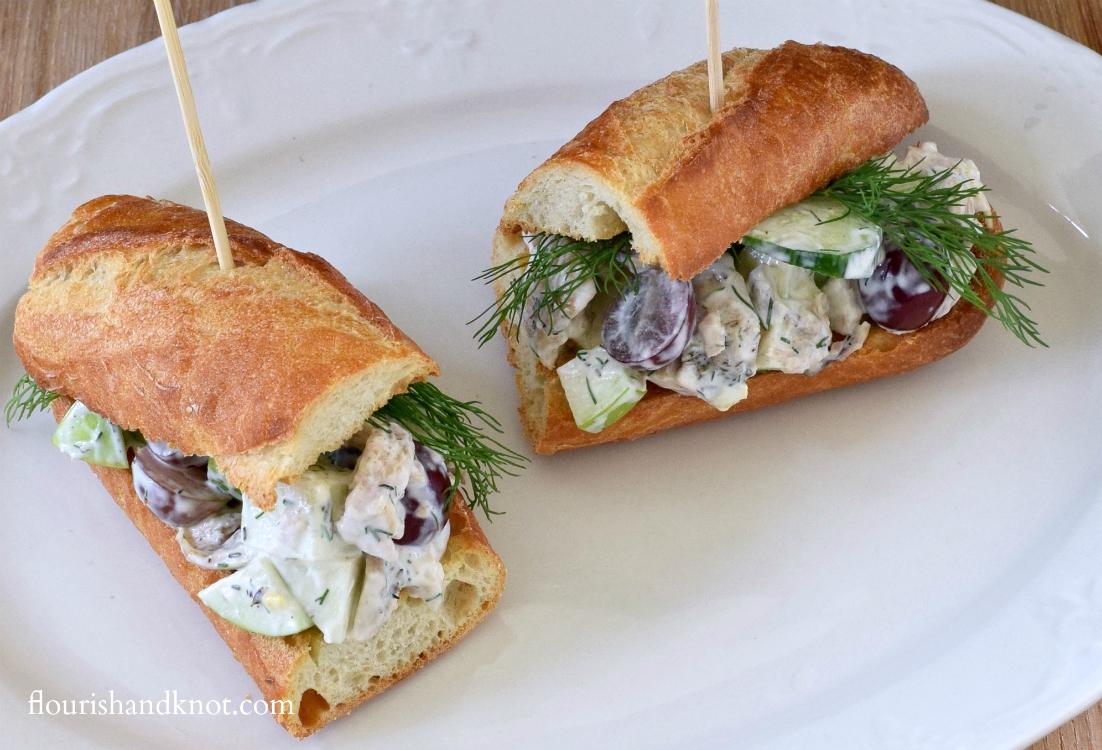 Waldorf-inspired chicken salad sandwiches | by flourishandknot.com