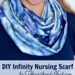 How to sew a simple, DIY infinity nursing scarf/cover | beginner sewing project! | flourishandknot.com