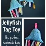 Jellyfish Tag Toy | Handmade Baby Shower Gift